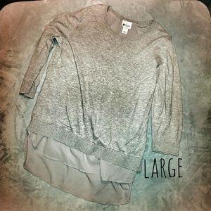 stylus Tops - 🇺🇸💖Stylus Gray Long Sleeve Blouse(L)