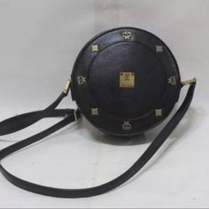 MCM Handbags - Auth MCM Germany leather round shoulder bag