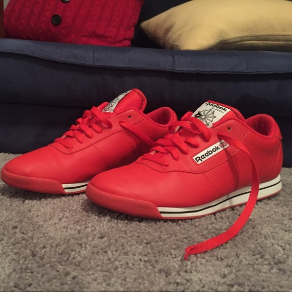 308712e8f35 Reebok Shoes - Women s Reebok Princess Techy Red White Black