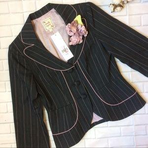 Nanette Lepore Jackets & Blazers - NWT Nanette Lepore Pinstripe Stella Jacket Size 4