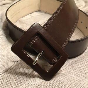 Anne Klein Accessories - Brown Leather Belt, Medium NWOT!