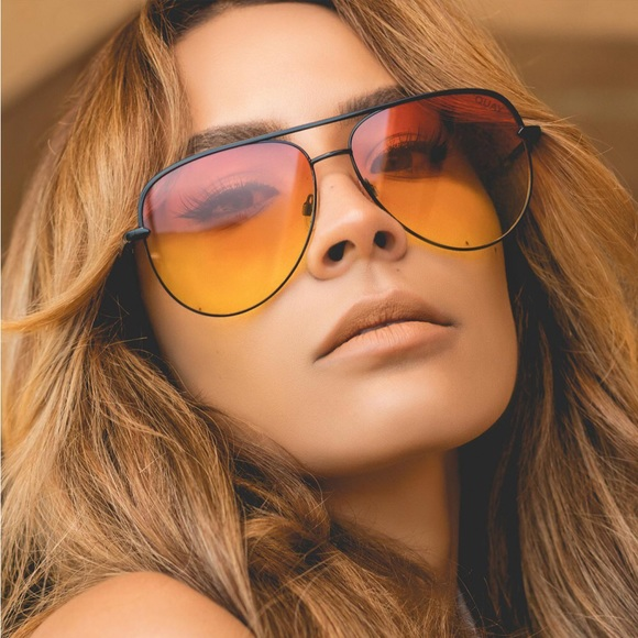 6a933c7799 Quay X Desi Perkins Sahara Orange Fade Sunglasses