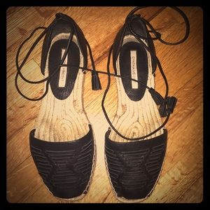 Cynthia Vincent leather espadrilles ☀️