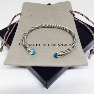 David Yurman Jewelry - David Yurman Cable Wrapped Bracelet in Blue Topaz