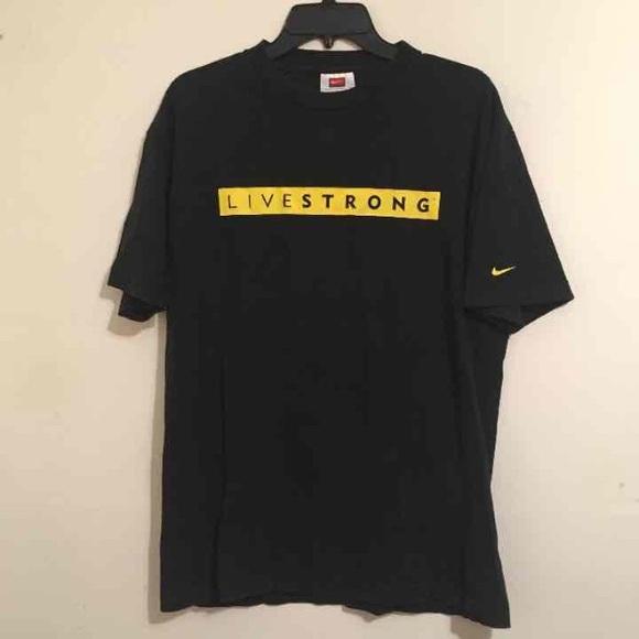 Nike LiveStrong Logo T-Shirt Men's Large