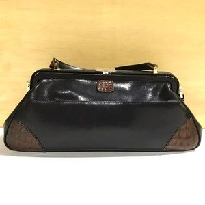 Brahmin Vintage Leather Dr. Satchel Bag
