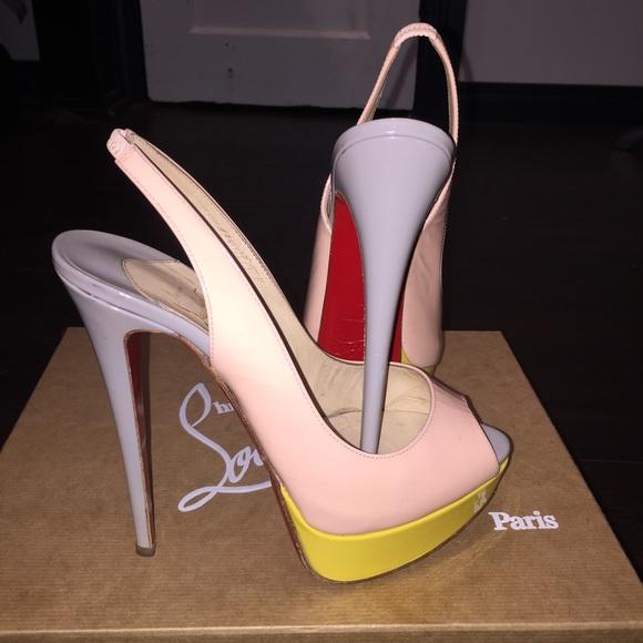 e98b7800539e Christian Louboutin Shoes - Christian Louboutin lady peep sling color block
