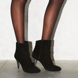 Free People Shoes - Free People Fairfax suede ankle bootie heel black