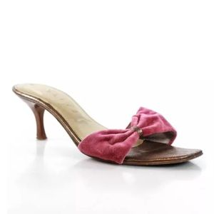 🎉HP🎉CELINE PINK OPEN TOE W BOW  SZ 36 6