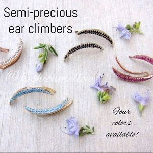 Jessica Elliot Jewelry - Semi-precious ear climbers