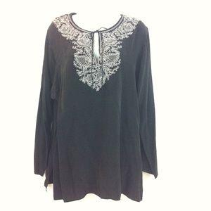 Diane von Furstenberg Tops - DVF black silk tunic