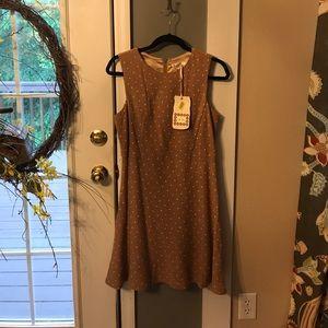 Chelsea & Violet Dresses & Skirts - NWT, Chelsea & Violet Tan & White Dot Dress