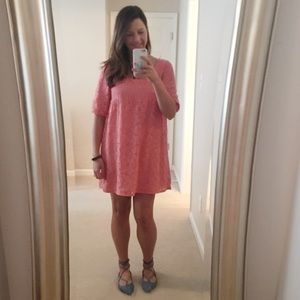 Everly Dresses & Skirts - Peach Lace Babydoll Dress