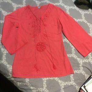 Melissa Odabash Other - MELISSA ODABASH Coral Kafton Coverup Dress Tunic