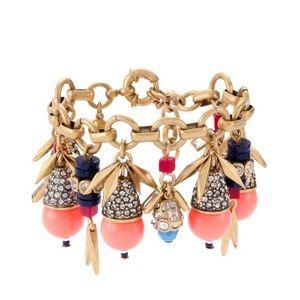 J. Crew Jewelry - J.Crew Jeweled Color Burst Charm Bracelet