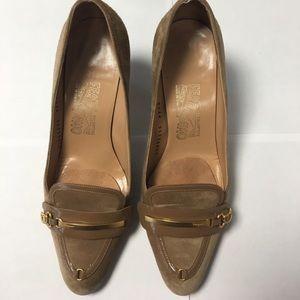 Salvatore Ferragamo Shoes - Vintage Salvatore Ferragamo suede heels 7