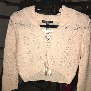 Betsey Johnson cropped sweater