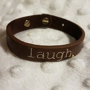 "Jessica Elliot Jewelry - NWT Genuine Leather ""Laugh"" Bracelet"