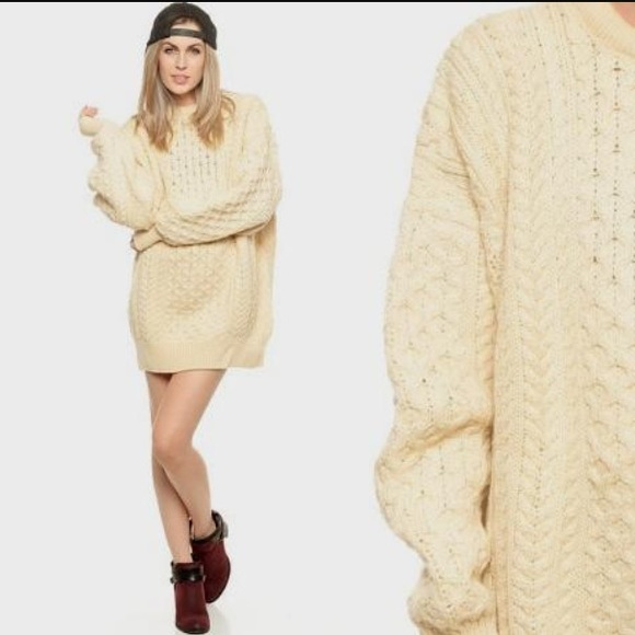 bd300e27747 NWT🌟Chunky Oversized Cable Knit Sweater Dress 💜✨