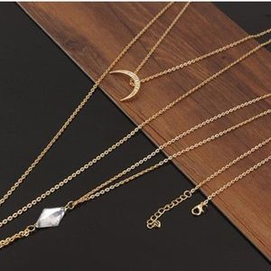 Gold body chain with Moon 🌙