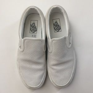 Vans Unisex Basket Weave Slip On Sneakers 8.5