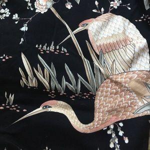 Skinny cotton floral pants