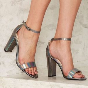 Nasty Gal Shoes - Glamorous Ankle Strap Vegan Leather Heel