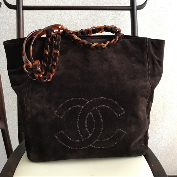 c141376997c6 CHANEL Bags | Brown Suede Shopping Tote | Poshmark
