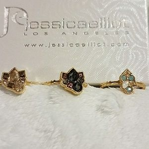 "NWT Swarovksi ""Rock Candy"" Stacking Rings"