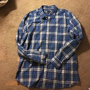 GAP Other - SaleMens Gap 100%cotton blue-plaid Xl Slim Fit