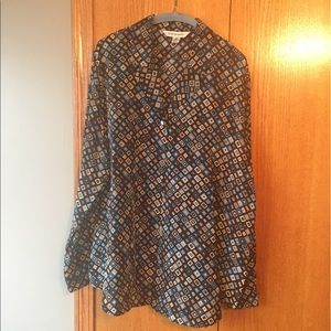 August Max Tops - Silk button up blouse