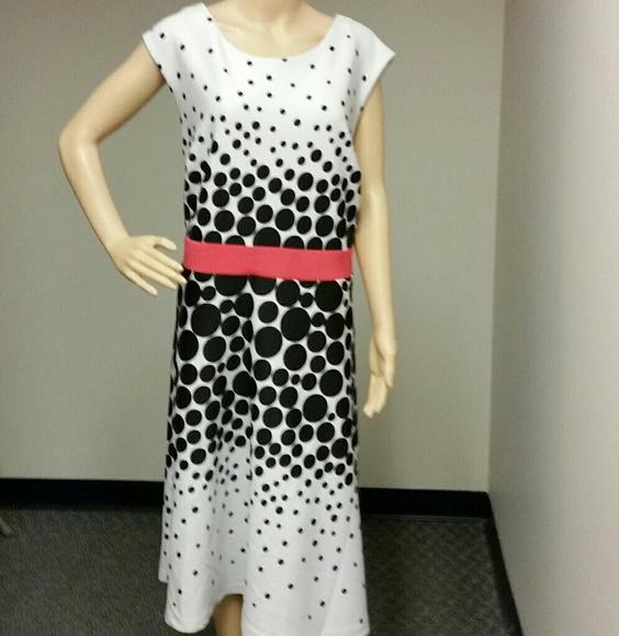 633a8c592d5 Sandra Darren polka dot dress flare dress  Sale
