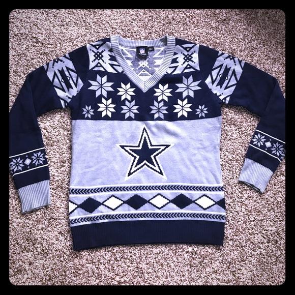 reputable site b8f77 c3145 Dallas Cowboys ugly Christmas sweater