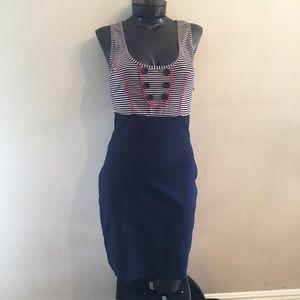 Jack by BB Dakota Dresses & Skirts - BB Dakota navy stripe fitted dress