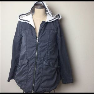 Free People French Terry Lined Hooded Jacket