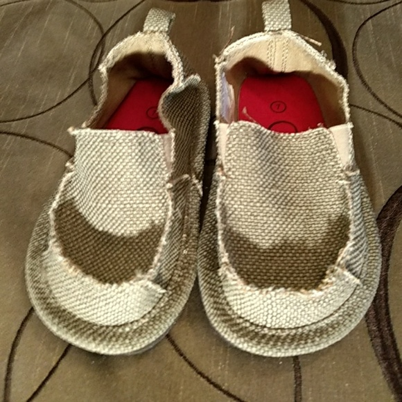 canvas slip on shoes toddler boy 7 new 7bb from s
