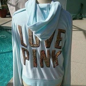 PINK Victoria's Secret Jackets & Blazers - Victoria's Secret Pink Sequin Jacket