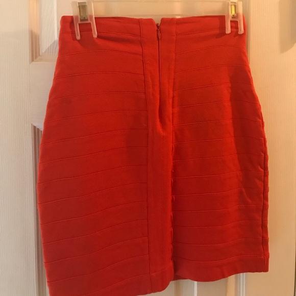 56 express dresses skirts an orange high waisted