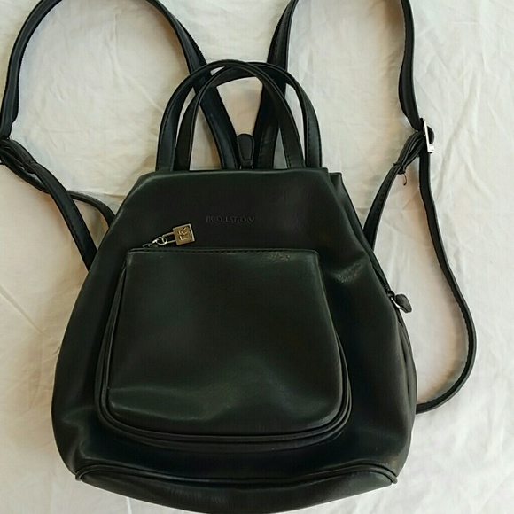 koltov Handbags - Koltov black backpack purse 9 in long 9 in wide 1c252c57868bd