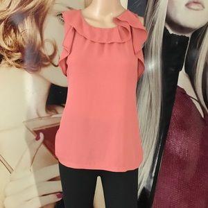 🚨CLEARANCE! Loft ruffle sleeveless blouse