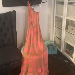 Karina Grimaldi Dresses & Skirts - Never worn Karina Grimaldi One Shoulder Maxi Dress