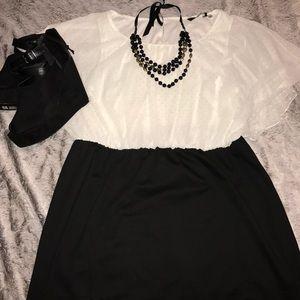 Simply Be Dresses & Skirts - NWOT Black/White blouse top dress