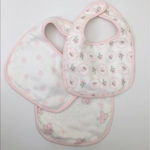 Swaddle Designs Other - Set of 3 Baby Girl MuslinBibs