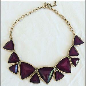 Jewelry - Gold and purple gemstone statement necklace