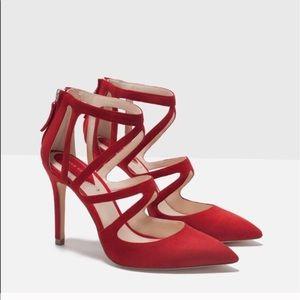 ZARA Red Pump High Heel