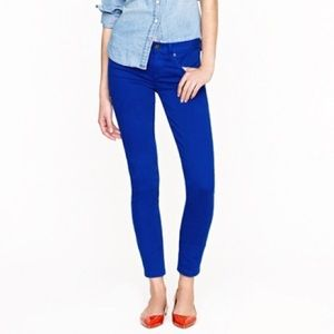 {J. Crew} Toothpick Ankle, Blue Grotto