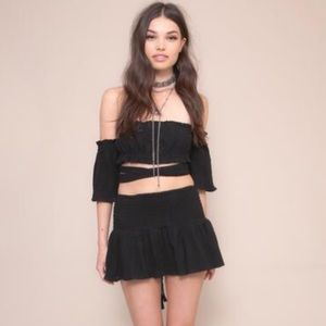 For Love and Lemons Tops - Crop Top and Mini Skirt Set