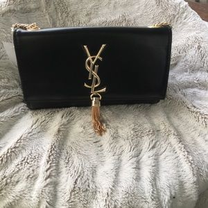 Yves Saint Laurent Handbags - ‼️FLASH SALE‼️✨New Black And Gold Tassel Bag✨