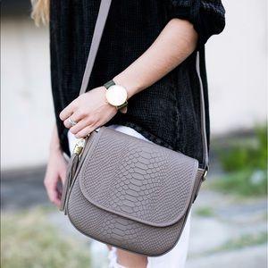 GiGi New York Handbags - NEW Kelly Saddlebag in Driftwood by GiGi New York