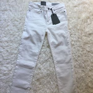 NWT [AllSaints] Off-White Grace Skinny Jeans - 26